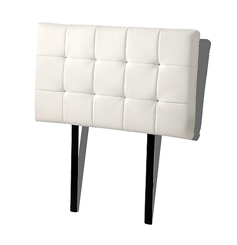... PU Leather Single Bed Deluxe Headboard Bedhead - White ...