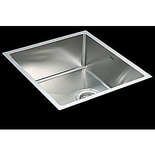 490x440mm Handmade Stainless Steel Undermount / Topmount Kitchen Laundry Sink with Waste