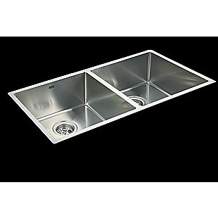 865x440mm Handmade Stainless Steel Undermount / Topmount Kitchen Sink with Waste