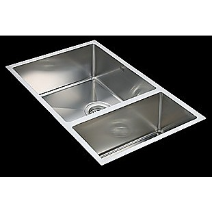 715x440mm Handmade Stainless Steel Undermount / Topmount Kitchen Sink with Waste