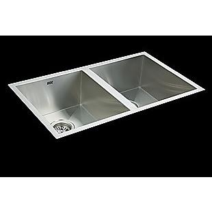 770x450mm Handmade Stainless Steel Undermount / Topmount  Kitchen Sink with Waste