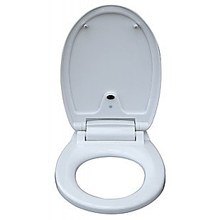 Automatic Toilet Seat Sensor Operated White & Round
