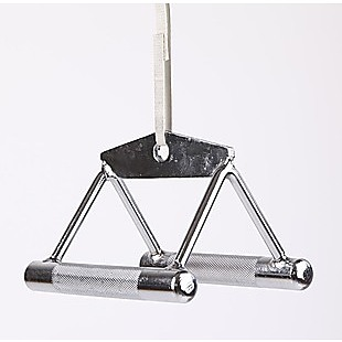 Close Grip Seated Row Handle Bar Triangle Cable Attachment