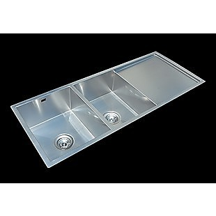 1160x460mm Handmade Stainless Steel Undermount / Topmount Kitchen Laundry Sink with Waste