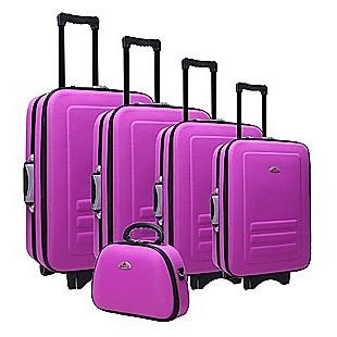 5pc Suitcase Trolley Travel Bag Luggage Set PURPLE