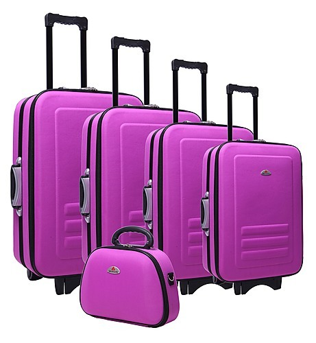 5pc Suitcase Trolley Travel Bag Luggage Set PURPLE - Travel Goods ...
